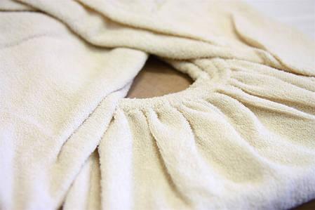 Простынь на резинке махровая Ярослав 160х200х20 см кремовый, фото 2