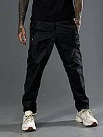 Штани чоловічі спортивні з плащової тканини чорний