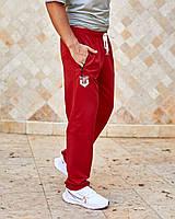 Штани чоловічі спортивні з кишенями червоний