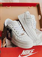 Кроссовки мужские демисезонные в стиле Nike Air Force Найк весна/лето/осень Белые Размер 41 42 43 44