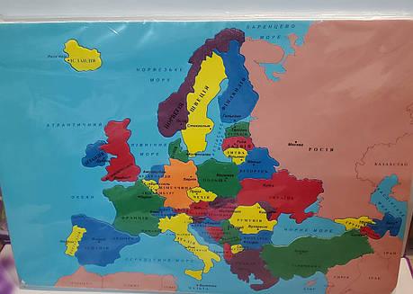 """Пазлы """"Карта Европы"""" пластиковые (42 * 30), фото 2"""