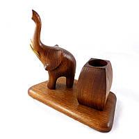 Карандашница со скульптурой Слон трубящий