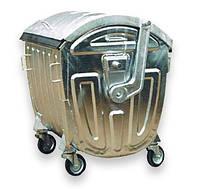 Контейнер для сміття 1,1 м.куб.  (оцинкований), фото 1