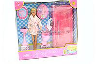 Дитяча іграшкова меблі для ляльок Барбі Ванна кімната ляльки Defa Lucy 8215. Облаштуйте ляльковий будиночок