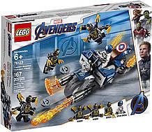 Конструктор Lego Super Heroes 76123 Капитан Америка: Атака Аутрайдеров