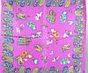 Женский модный шелковый платок размером 50*50 см CODELLO (КОДЕЛЛО) C270097-violet