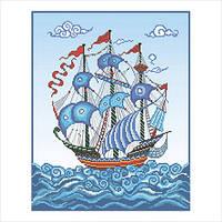 """Схема для вышивки бисером """"Корабль"""""""