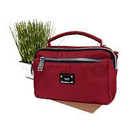 Жіноча сумка з тканини бордова Арт.F021 (Китай)