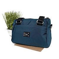 Модна сумка жіноча текстильна зелена Арт.N013 (Китай)
