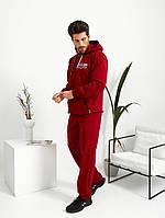 Спортивний стильний чоловічий костюм червоний