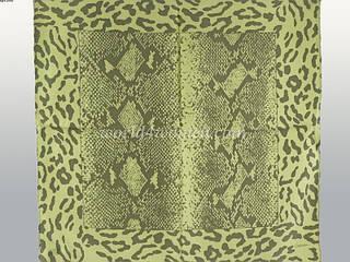 Красивый женский шелковый платок размером 50*50 см CODELLO (КОДЕЛЛО) C270245-green