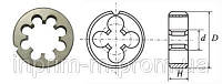 Плашка круглая для метрической резьбы М22х2,5