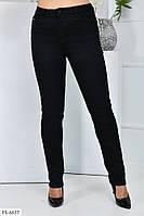Джинсові штани жіночі джинси стрейчеві приталені по фігурі чорні великих розмірів р-ри 48-56