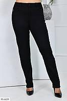 Облягаючі жіночі джинси чорні класичні осінні стрейч джинс великих розмірів р-ри 52-60 арт.1041/119