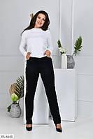 Стрейчеві осінні жіночі джинси, чорні, облягаючі, з кишенями великі розміри батал 54-62 арт.1041/117