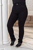 Чорні джинси жіночі модні, стильні джинси стрейч великі розміри батал на осінь 50-60 арт. 1041/116
