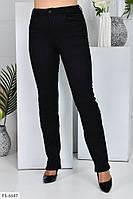 Чорні джинси жіночі класичні стрейч джинс облягаючі зручні осінні великих розмірів 50-58 арт.1041/115