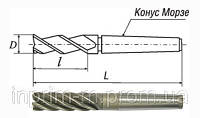 Фреза концевая с коническим хвостовиком (удлиненная) 22х100х200 z3 КМ3 Р6М5 ТУ