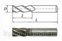 Фреза концевая с цилиндрическим хвостовиком (3, 4, 5-перая) D 16