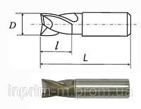 Фреза шпоночная с цилиндрическим хвостовиком D 6