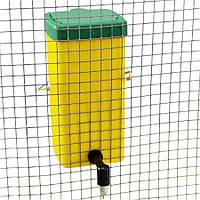 Поїлка з пластиковим баком на 1 л і ніпелем з нержавіючої сталі для кроликів River Systems (Італія)