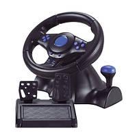 Руль игровой с педалями 3в1 Vibration Steering wheel SKL11-322265
