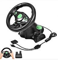 Руль игровой с педалями 4в1 Super Vibration Steering Wheel SKL11-322256