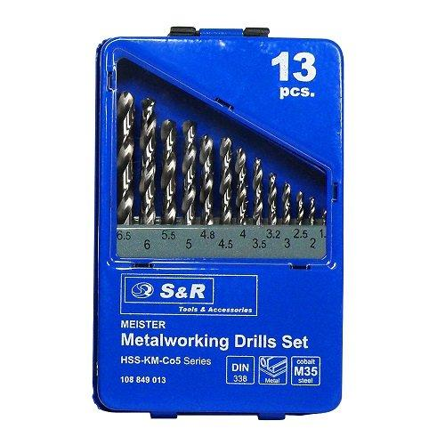 Набор сверл по металлу S&R Meister Co 13 шт.