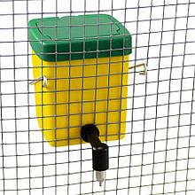 Поїлка з пластиковим баком на 0,5 л і ніпелем з нержавіючої сталі для кроликів River Systems (Італія)
