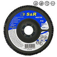 Круг зачисний пелюстковий S&R Meister 125x22.2, Z40, фото 1