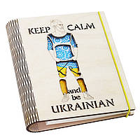 "Деревянный блокнот ""Keep Calm and be Ukrainian"" СКИДКА"