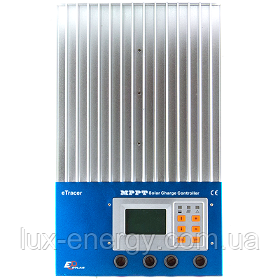 Фотоэлектрический контроллер заряда ETracer-4415N (45А, 12/24/36/48Vauto, Max.input 150V), фото 2