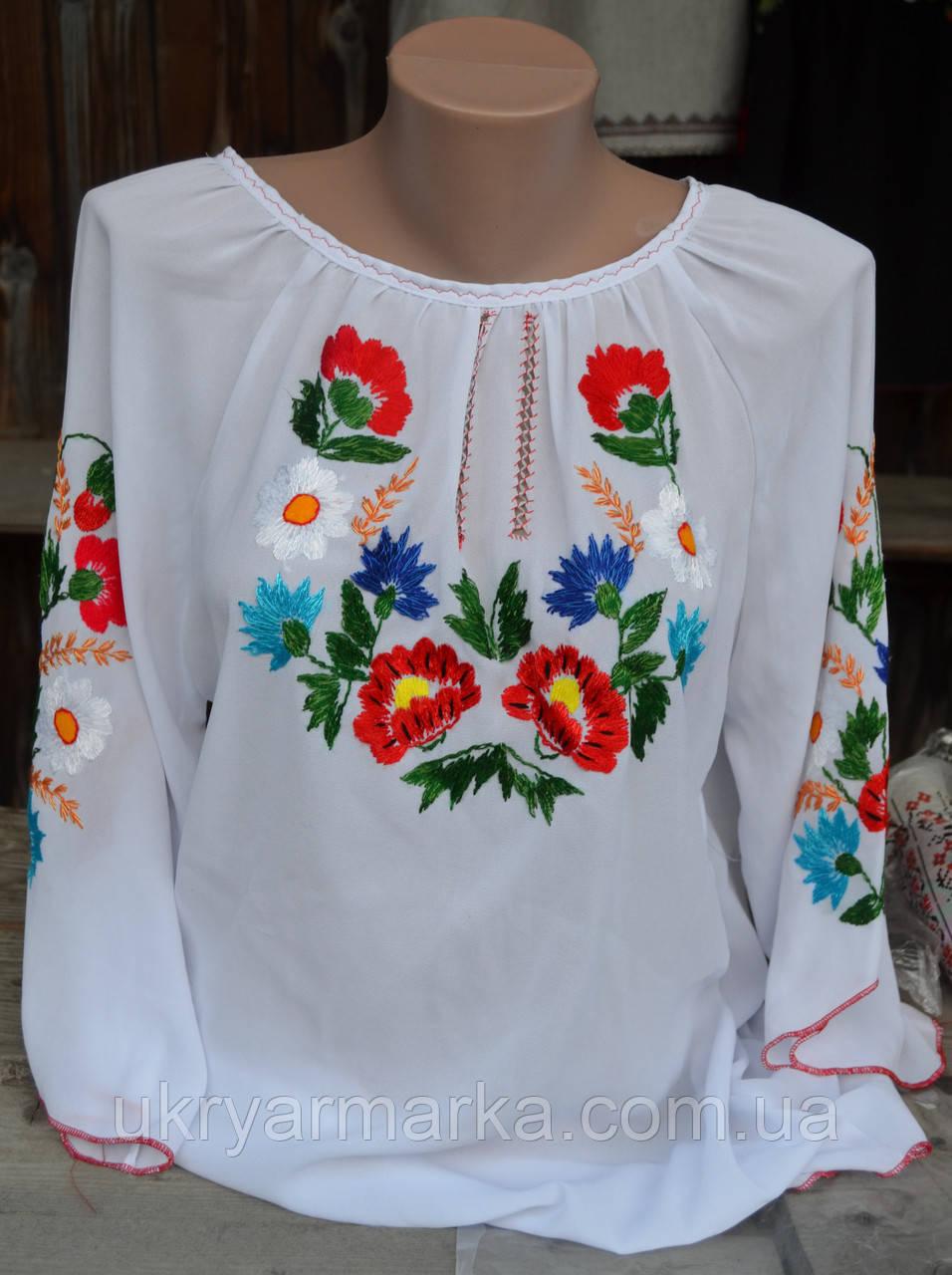 """Жіноча вишивана блузка """"Квіти"""""""