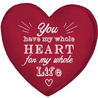 Подушка сердце 3D Ты в моем сердце на всю жизнь