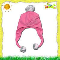 Детская флисовая шапочка для девочки