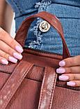 Женский темно-коричневый рюкзак код 7-9200, фото 5