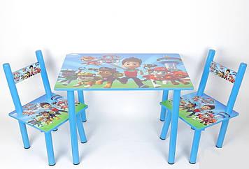 Набір дитячої дерев'яної меблів столик з двома стільчиками PAW Patrol Щенячий патруль