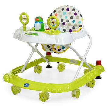 Ходунки каталка с игровой панелью для ребенка Детские ходунки с силиконовыми колесами Каталка-ходунки малышу