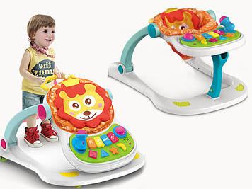 Детская каталка-ходунки игровой центр с звуковыми и световыми эффектами Ходунки для деток Ходунки-каталка