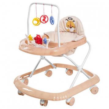 Каталка-ходунки с игровым центром Детские ходунки с качалкой Удобные детские ходунки с мягким сидением