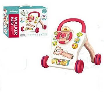 Ходунки каталка с сортером и счетами Каталка-ходунки с музыкальной погремушкой и световыми эффектами малышам