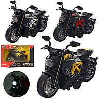 Колекційна іграшкова модель мотоцикла AS-2633 інерційний