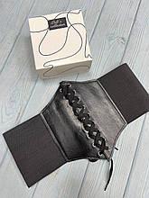 Корсет женский черный резинка на шнуровке портупея на талию на липучке и завязке