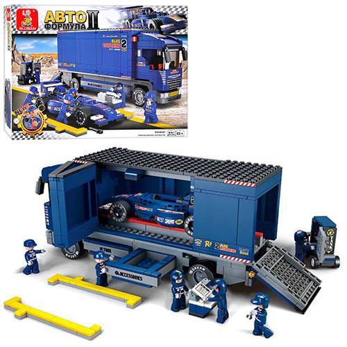 Конструктор для дітей Sluban для хлопчика дитячий Трейлер Формула M38-B0357