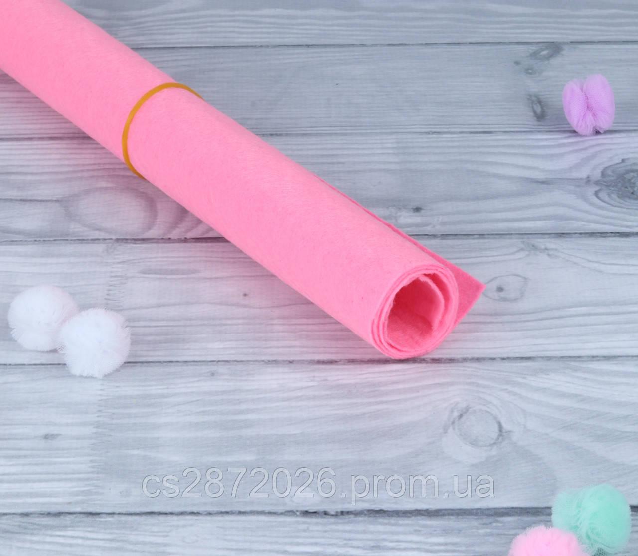 Фетр 1 мм, А3 (30х40 см) розовый