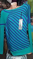 Свитер женский в полоску(разные цвета)