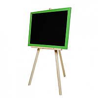 Дошка для малювання на тринозі M326040/1/2/3 двостороння 60 * 40 магнітна (Зелений)