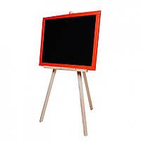 Дошка для малювання на тринозі M326040/1/2/3 двостороння 60 * 40 магнітна (Червоний)