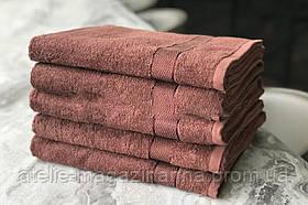 Рушник 50*90 100 % бавовна коричневе