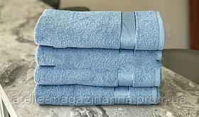 Рушник 50*90 100 % бавовна блакитне